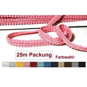 25m Packung Possamentenborte  - Farbwahl (Grundpreis 0,76/m)