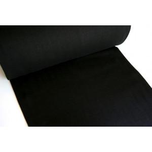 10cm Bündchen Schlauch glatt  (ca 65cm Umfang)  SCHWARZ  (Grundpreis € 10-/m)