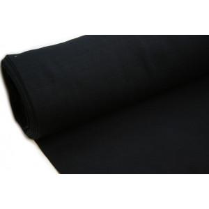 10cm Bündchen Schlauch (80 cm Umfang) Feinripp schwarz EU-Produktion (Grundpreis €14,00/m)