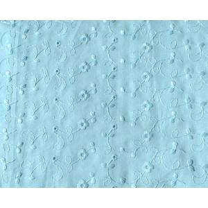 10cm Misch-Batist mit Lochstickerei Blumen hellblau und Bogenkante  (Grundpreis € 12,00/m)