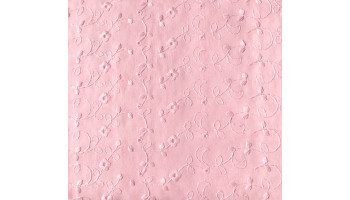 10cm Misch-Batist mit Lochstickerei Blumen rosa und Bogenkante  (Grundpreis € 12,00/m)
