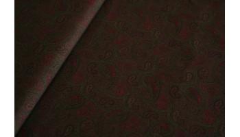 10cm Baumwolldruck  PAISLEYMUSTER DUNKELGRÜN-BRAUN-OLIV-FUCHSIA (Grundpreis € 12,00/m)