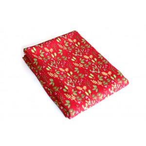Baumwollstoff B36 Blätter rot zum sonnigen Preis  (Grundpreis € 6,00/m)