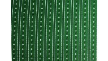 10cm Dirndlstoff (Baumwolldruck aus EU-Produktion) schmaler Blumenstreif weiss/schwarz/TANNENGRÜN  (Grundpreis 29,00/m)