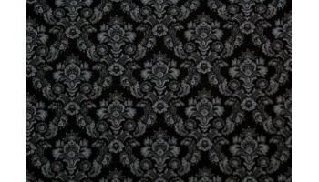 10cm Dirndlstoff (Baumwolldruck aus EU-Produktion) Blumenornamente ANTHRAZITH  (Grundpreis 28,00/m)