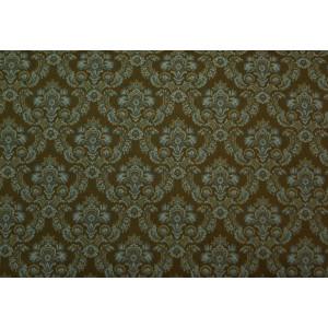 10cm Dirndlstoff (bedruckt in der EU) Blumenornamente OLIVBRAUN  (Grundpreis 28,00/m)