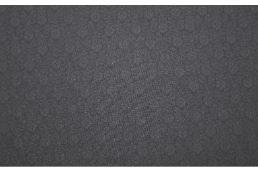 10cm Dirndlstoff (bedruckt in der EU) zartes, feines Blumenornamentmuster Ton in Ton MITTELGRAU  (Grundpreis 28,00/m)