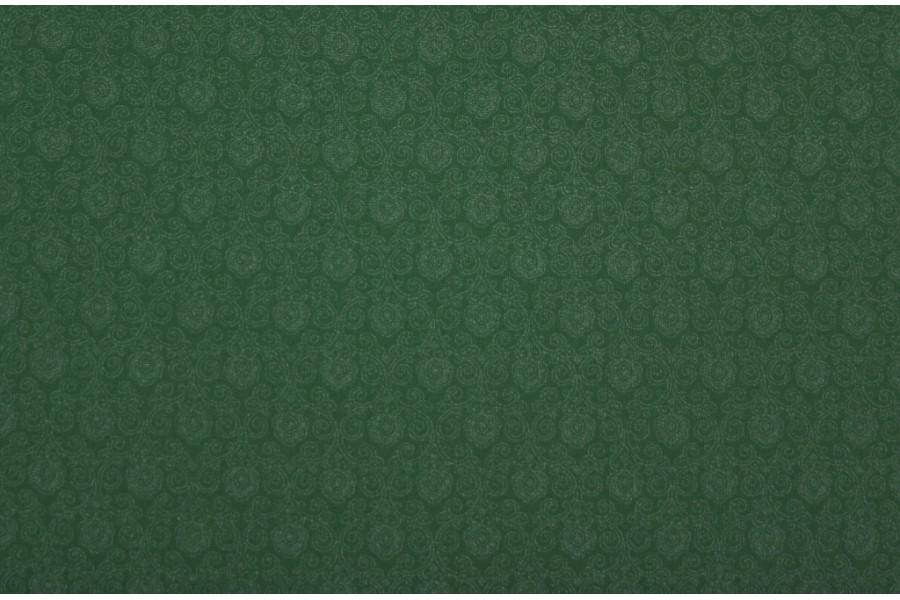 10cm Dirndlstoff (bedruckt in der EU) zartes, feines Blumenornamentmuster Ton in Ton WIESENGRÜN  (Grundpreis 28,00/m)