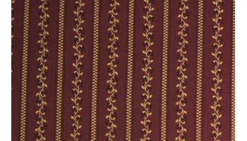 10cm Dirndlstoff (bedruckt in der EU) schmaler Blumenstreif bordo/senfbeige  (Grundpreis 29,00/m)