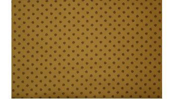 10cm Dirndlstoff (bedruckt in der EU) kleine Streublumen  SENFBEIGE/bordo/dunkelgrün  (Grundpreis 29,00/m)