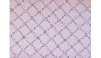 10cm Dirndlstoff (Trachtensatin aus EU-Produktion) Rauten violett/flieder hell (Grundpreis 21,00/m)