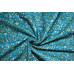 10cm Baumwolldruck Landhaus Blumenranken auf Türkisblau (Grundpreis 8,00/m)