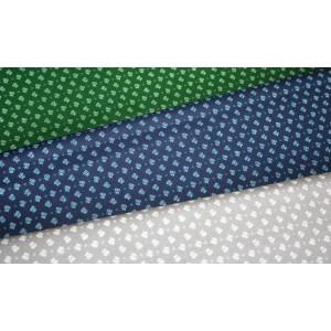 10cm Baumwolldruck Landhaus (etwas fester) Streublümchen auf Blau, Grün oder Grau (Grundpreis 8,00/m)