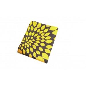 Baumwollstoff B53 Riesenblumen gelb-weiss-grau  zum sonnigen Preis  (Grundpreis € 6,00/m)