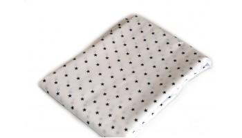 Baumwollstoff B46 schwarze Sternchen auf Weiss zum sonnigen Preis  (Grundpreis € 6,00/m)