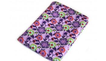 Baumwollstoff B50 Blütenmuster lila  zum sonnigen Preis  (Grundpreis € 6,00/m)
