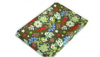 Baumwollstoff B51 Blütenmuster grün  zum sonnigen Preis  (Grundpreis € 6,00/m)