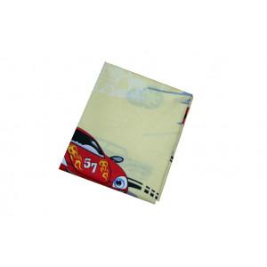 Baumwollstoff B22 große Autos auf Hellgelb zum sonnigen Preis  (Grundpreis € 6,00/m)