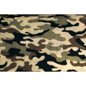 """10cm Baumwolldruck """"Camouflage auf Ecru""""  (Grundpreis € 10,00/m)"""
