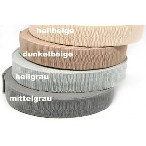1m weiches Gurtband 3cm - Farbwahl