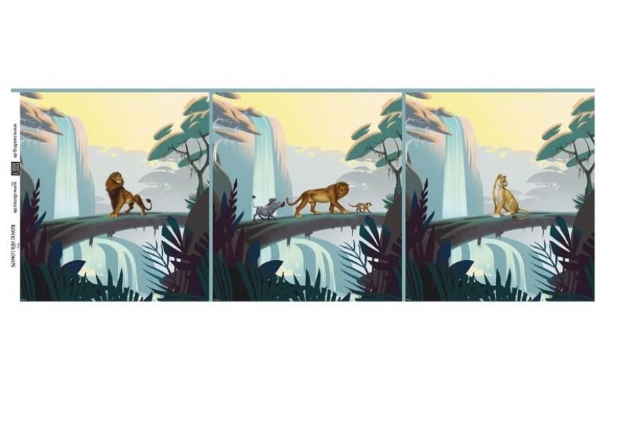 Jersey A125 Paneel 55cm König der Löwen Simba LIZENZSTOFF!  zum sonnigen Preis  (Grundpreis € 10,91/m)
