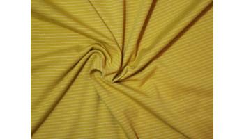 """10cm Stretchjersey """"Stripes senfgelb"""" aus EU-Produktion       (Grundpreis € 17,00/m)"""