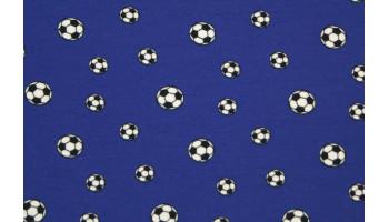 10cm Stretchjersey Fußball kobaldblau (Grundpreis € 19,00/m)