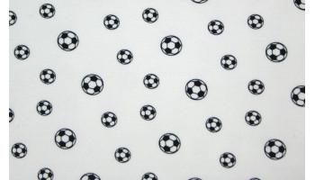 10cm Stretchjersey Fußball weiss (Grundpreis € 19,00/m)