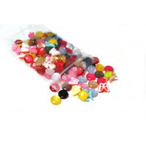 100 Stk - Packung Kinderknöpfe  MIX
