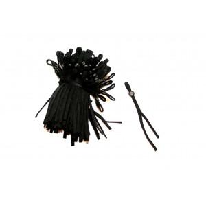 Zugeschnittenes Elastikband 5mm SCHWARZ mit aufgefädeltem Stopper,  Gummiband für Mund-Nasen-Masken EINZELN oder als 100er PKG