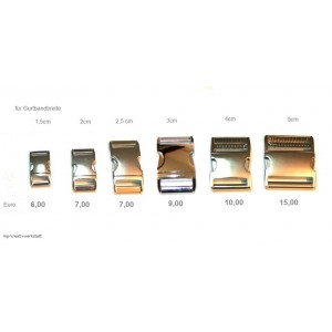 1 Stk Klickverschluss Alu ab 6 Euro - Größenwahl - Mengenrabatt