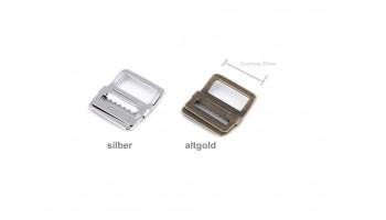 1 Stk Schnalle für Gilets und Westen / Schieber / Regulator / Spange silber oder altgold   20mm