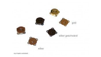 1 Stk Magnetverschluss zum Annähen rund 19mm   - Farbwahl - MENGENRABATT
