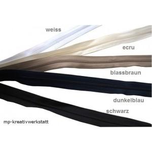1m Endlosreissverschluss  3mm Spirale  inkl. 2 Stk Schieber - Farbwahl