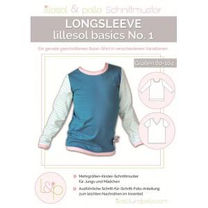 Papierschnittmuster lillesol basics No.1 Longsleeve Gr. 80 - 164