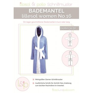 Papierschnittmuster lillesol women No.16 Bademantel   Gr. 34-50