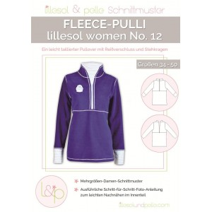 Papierschnittmuster lillesol women No.12 Fleece-Pulli   Gr. 34 - 50
