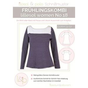 Papierschnittmuster lillesol women No.18 Frühlingskombi Kleid & Shirt   Gr. 34 - 50