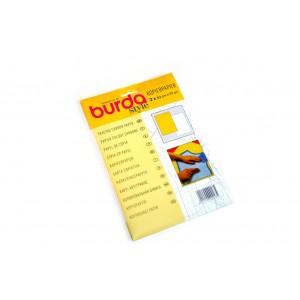 1 Pkg mit 2 Bögen Kopierpapier gelb und weiss  BURDA