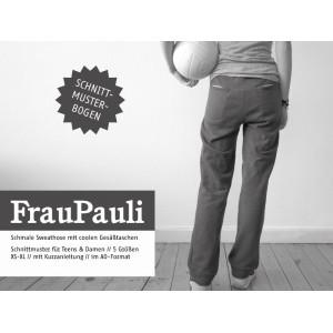 Papierschnittmuster Schnittreif FRAU PAULI Sweathose Xs-XL