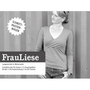 Papierschnittmuster Schnittreif FRAU LIESE Wickeloptikshirt Xs-XXL