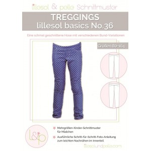 Papierschnittmuster lillesol basics No.36 Treggings Gr. 80 - 164