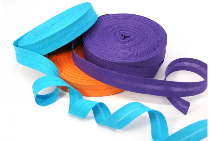 1m Schrägband Baumwolle gefalzt 20mm breit