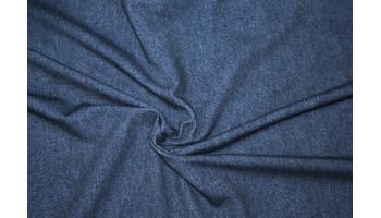 10cm Sommersweat Jeansoptik MITTELBLAU - French Terry   (Grundpreis € 19,00/m)