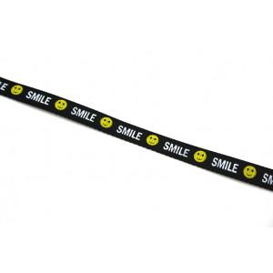 """1m Ripsband """"S m i l e""""  10mm breit"""