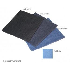 1 Stk großer Jeans- Bügelflicken zuschneidbar