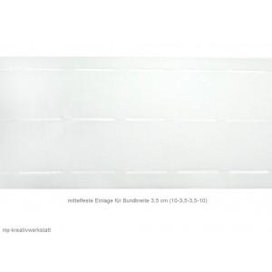 1m mittelfestes Stanzband/Bundband f. 35mm Bund weiss oder schwarz
