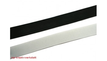 1m Gummi schwarz oder weiss 40 mm