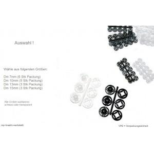 1 Karte Druckknöpfe Kunststoff
