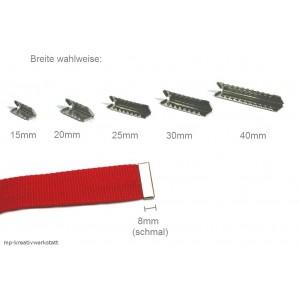 1 Stk Endstück schmal silberfarben  - Größenwahl 40, 30, 25, 20 oder 15mm.